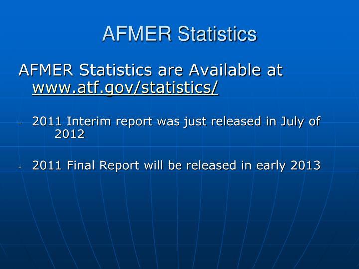 AFMER Statistics