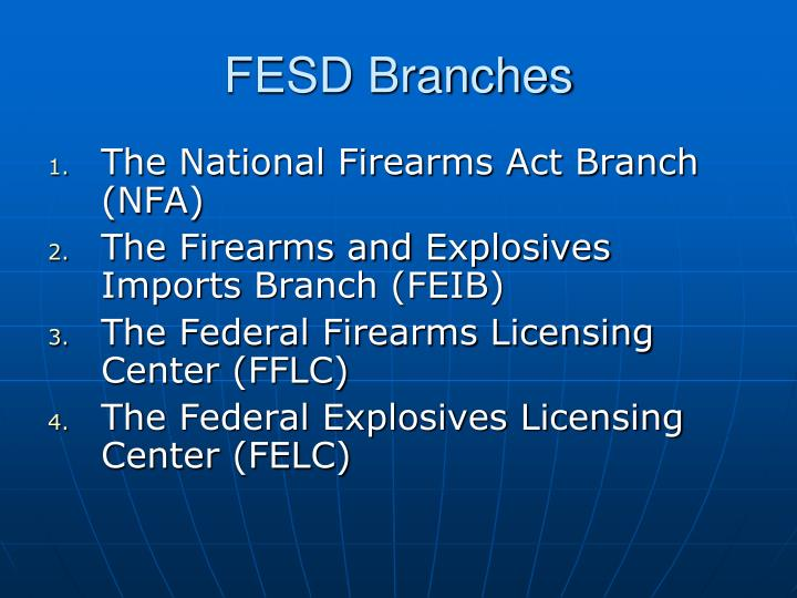 Fesd branches