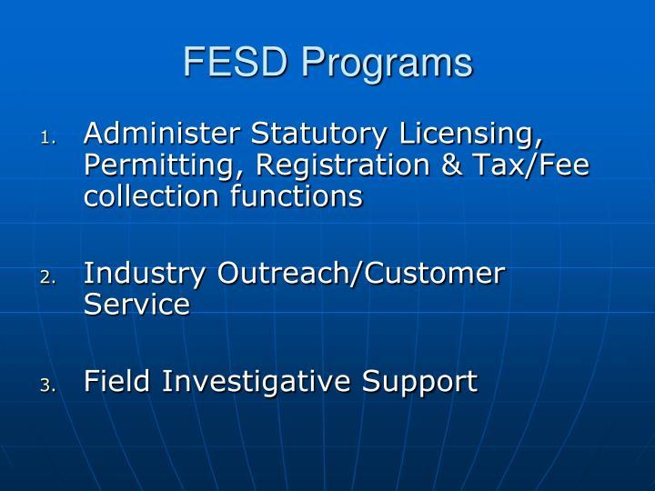 FESD Programs