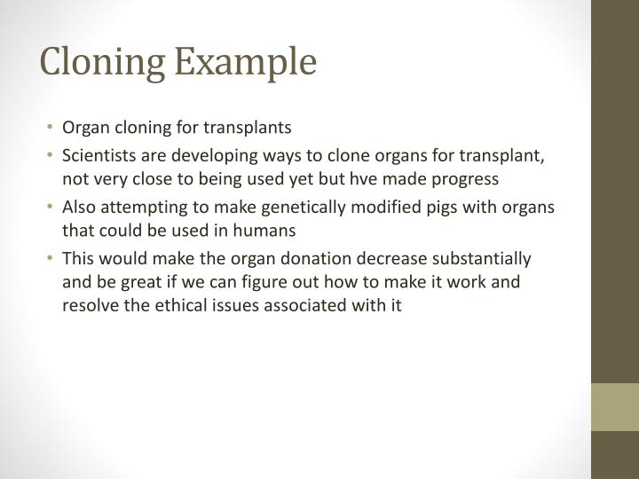 Cloning Example