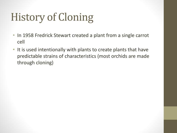 History of Cloning