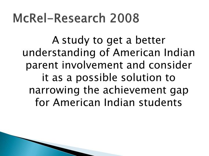 Mcrel research 2008