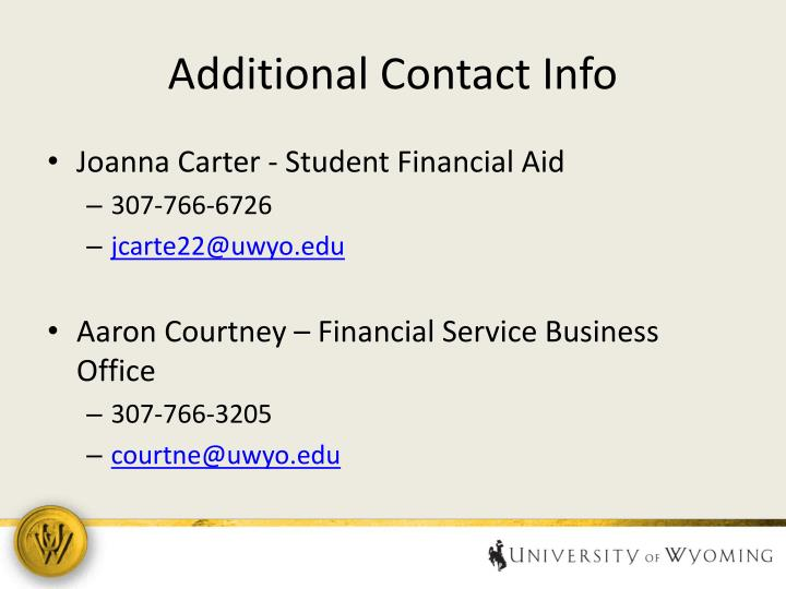 Additional Contact Info