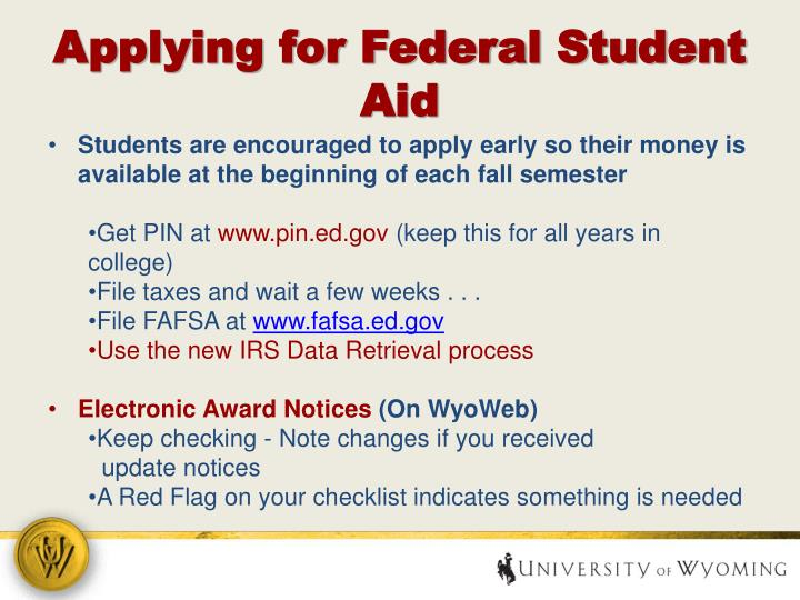 Applying for Federal Student Aid