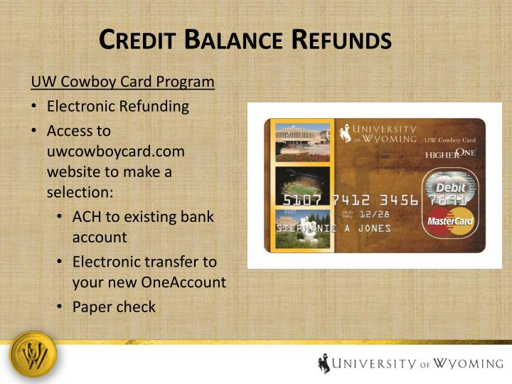 Credit Balance Refunds