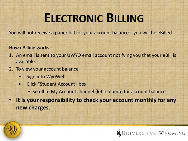 Electronic Billing