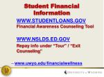 student financial information