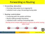 forwarding vs routing