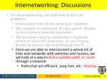 internetworking discussions