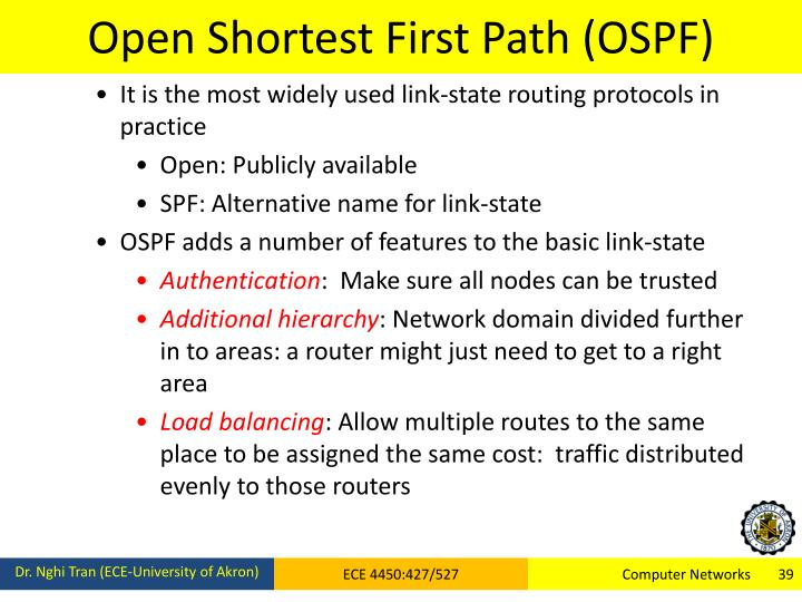 Open Shortest First Path (OSPF)