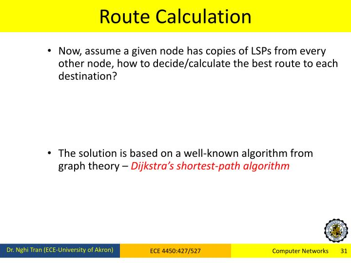 Route Calculation