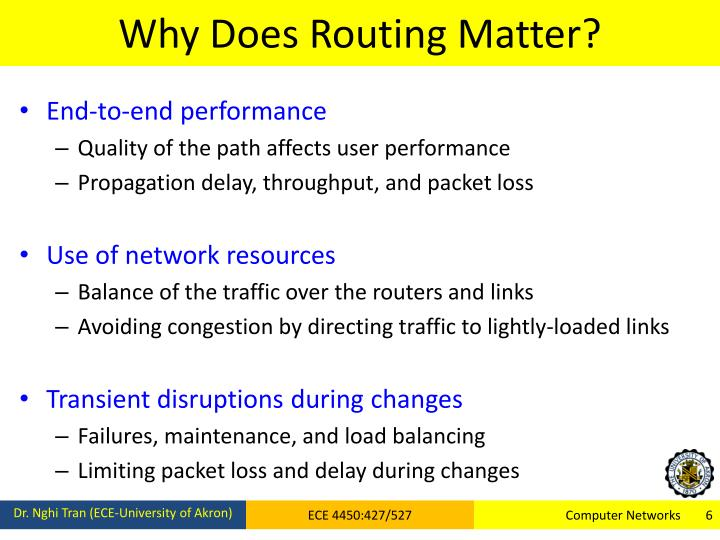 Why Does Routing Matter?