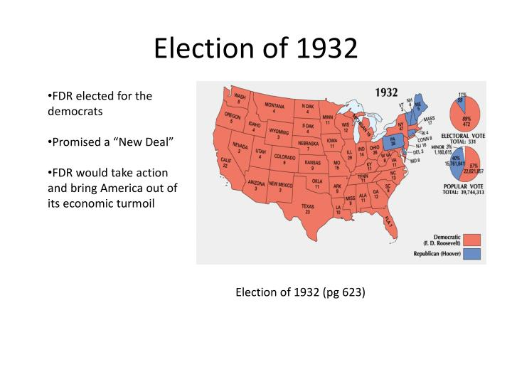 election of 1932 Fdr led america to victory in world war ii.
