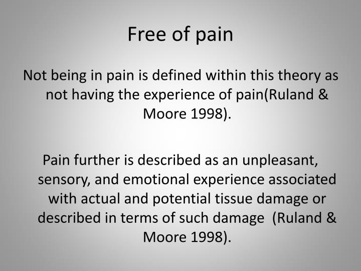 Free of pain