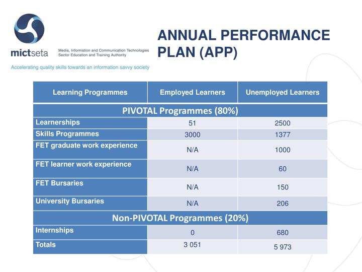 ANNUAL PERFORMANCE PLAN (APP)