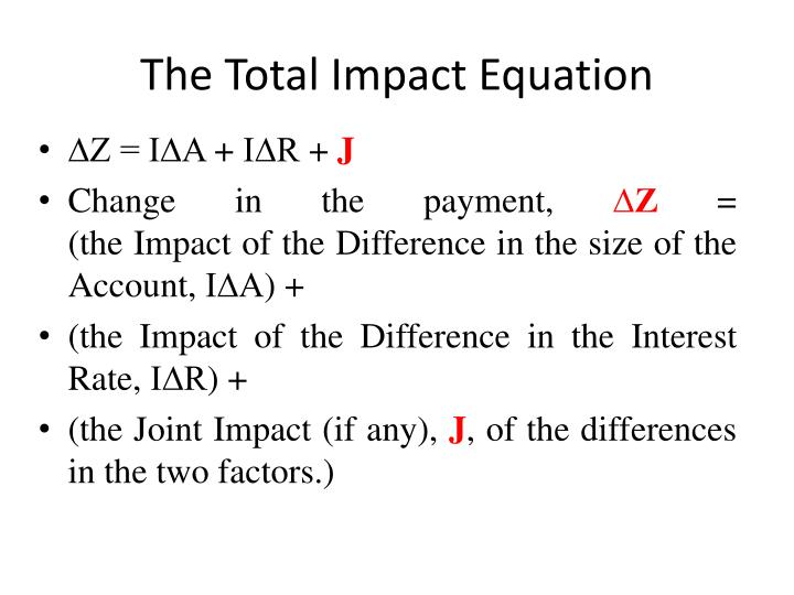 The Total Impact Equation