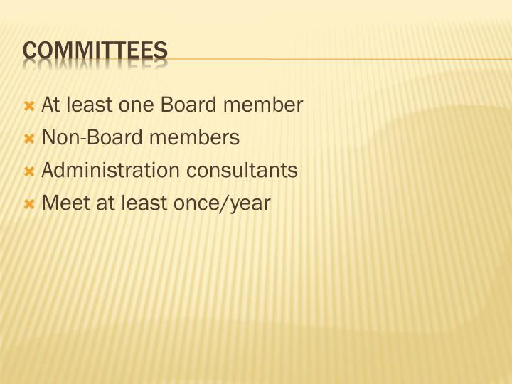 At least one Board member