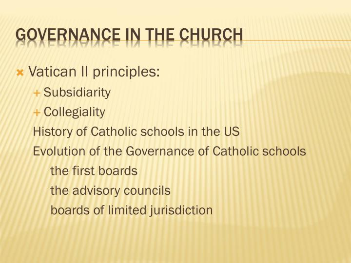 Governance in the church