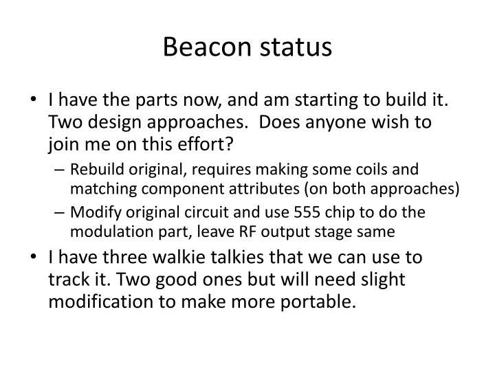 Beacon status