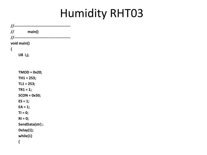 Humidity RHT03