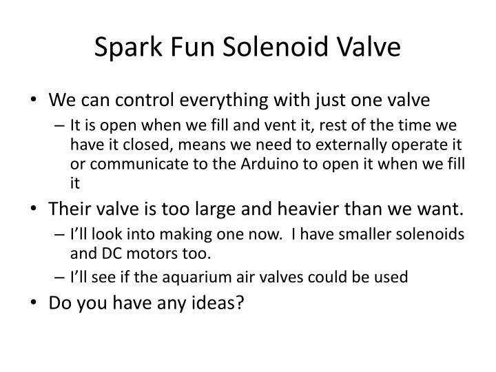 Spark Fun Solenoid Valve