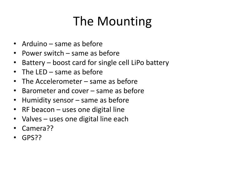 The Mounting
