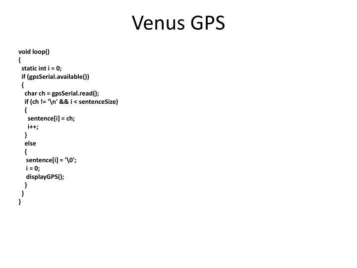 Venus GPS