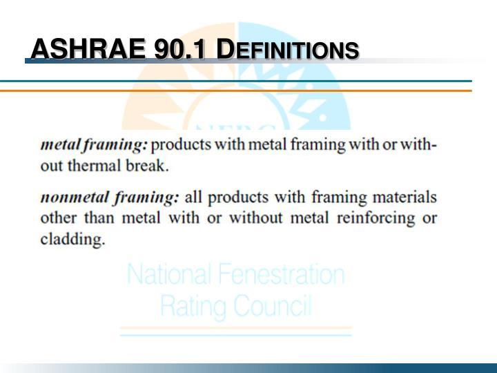 ASHRAE 90.1 Definitions