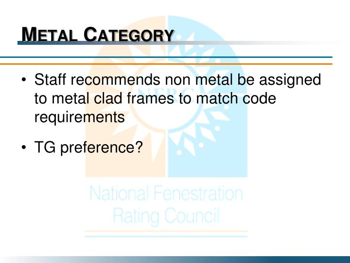 Metal Category