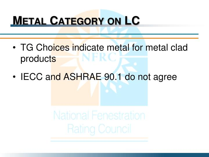 Metal Category on LC