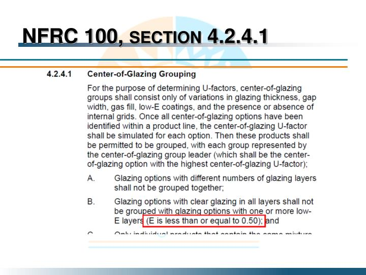 NFRC 100, section 4.2.4.1