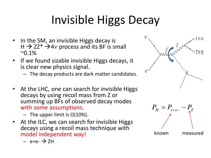 Invisible higgs decay