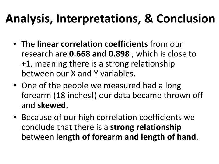 Analysis, Interpretations, & Conclusion