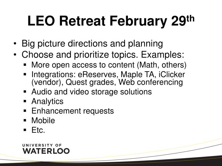 LEO Retreat