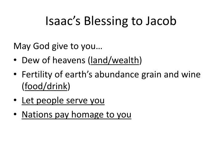 Isaac's Blessing to Jacob