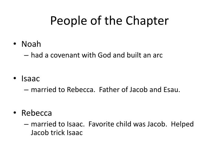People of the Chapter