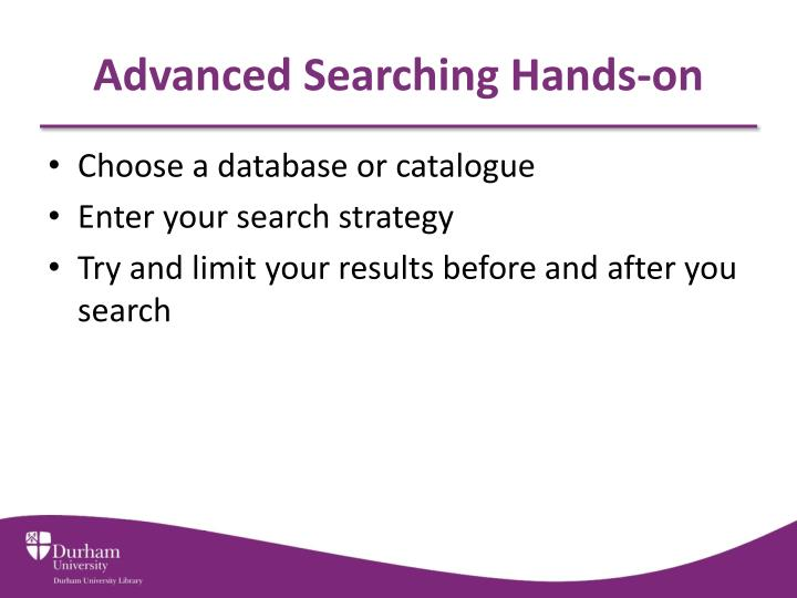 Advanced Searching Hands-on
