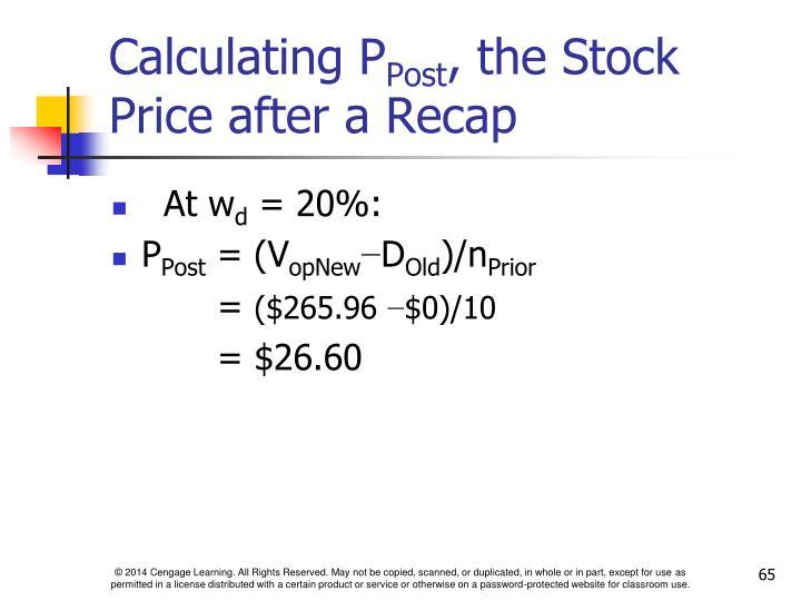 Calculating P