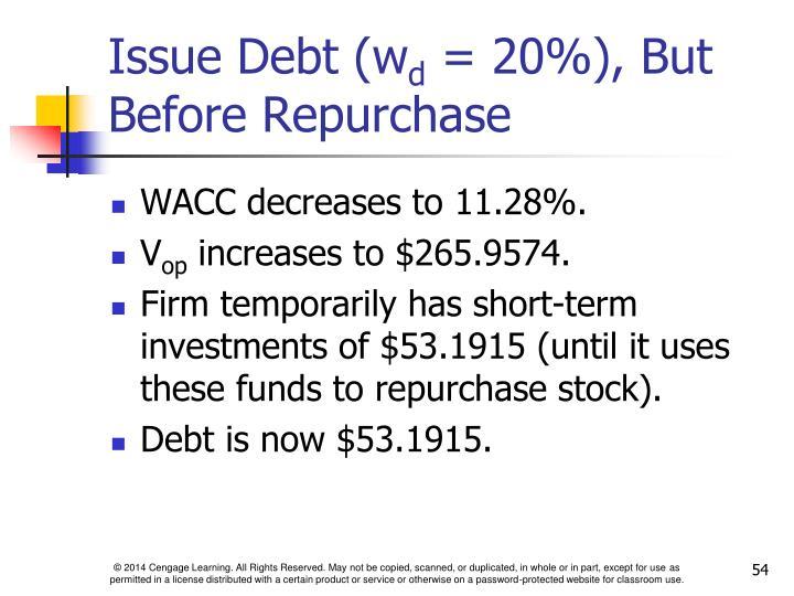 Issue Debt (w