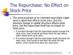 the repurchase no effect on stock price