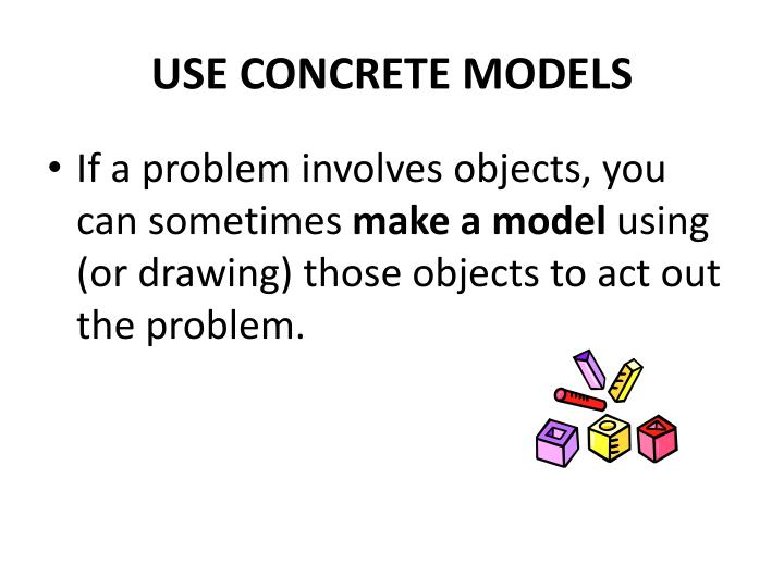 USE CONCRETE MODELS