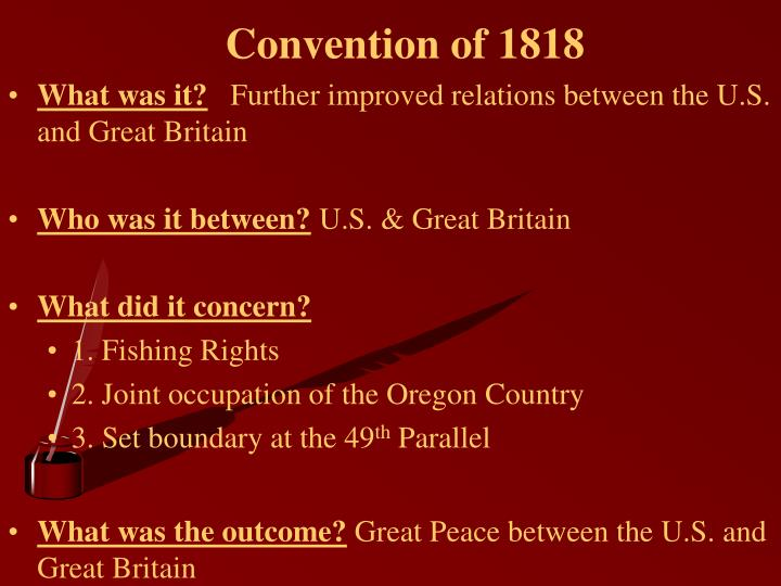 Convention of 1818
