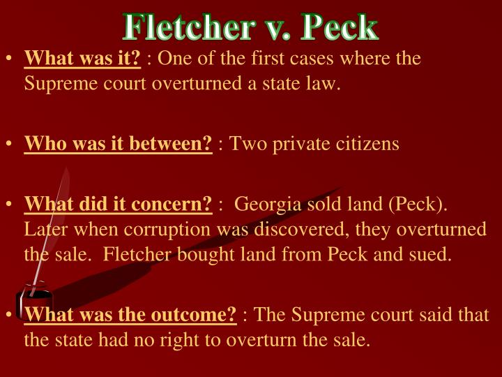 Fletcher v. Peck
