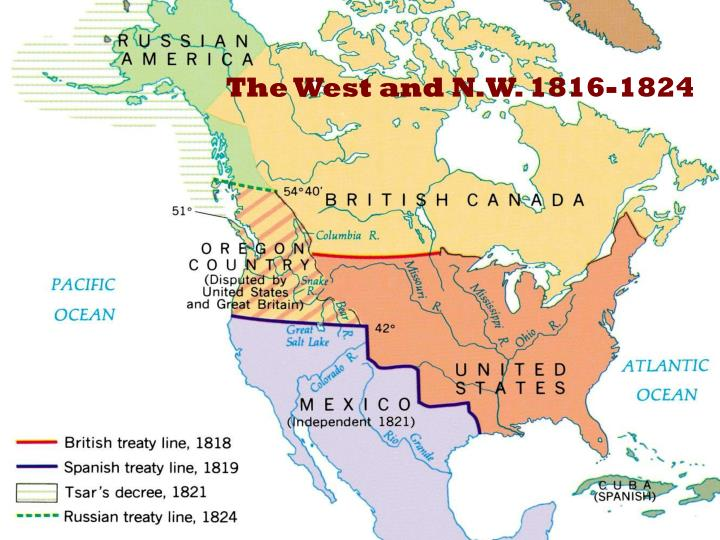 The West and N.W. 1816-1824