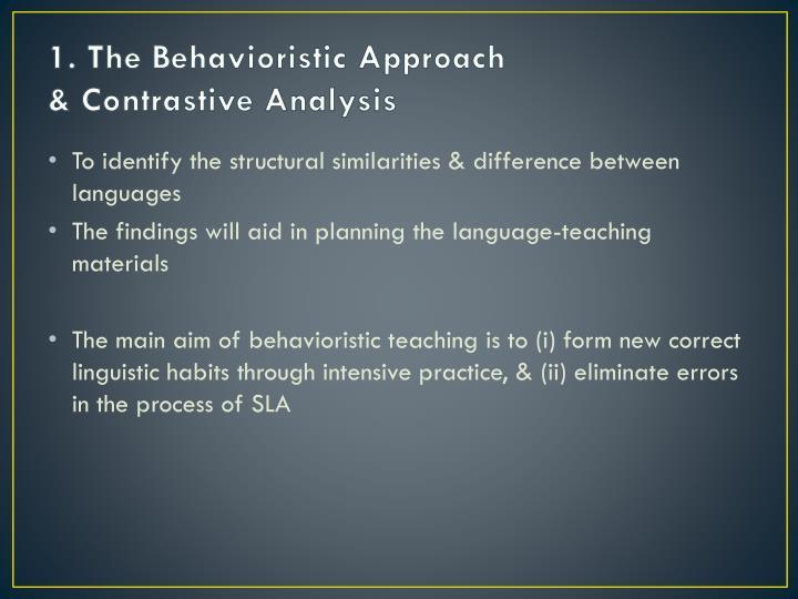 1. The Behavioristic Approach