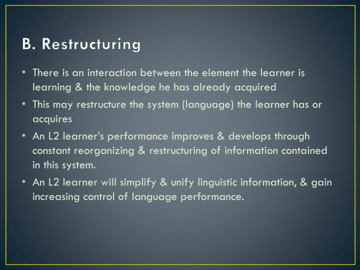 B. Restructuring