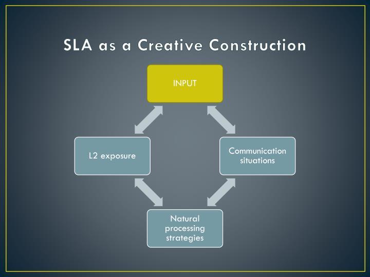 SLA as a Creative Construction