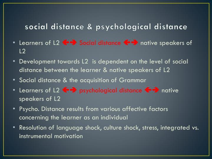 social distance & psychological distance