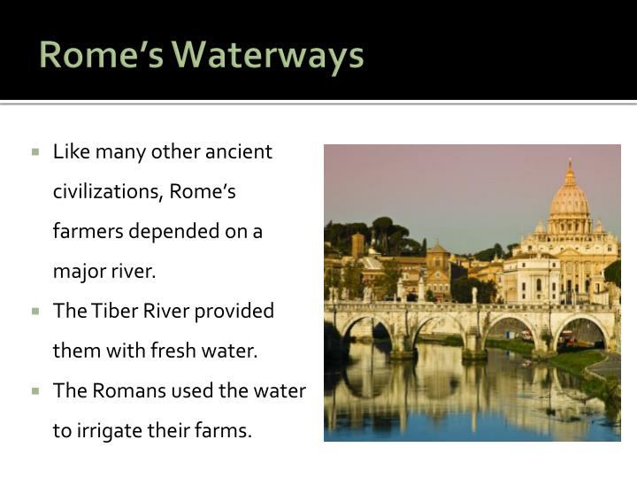 Rome's Waterways