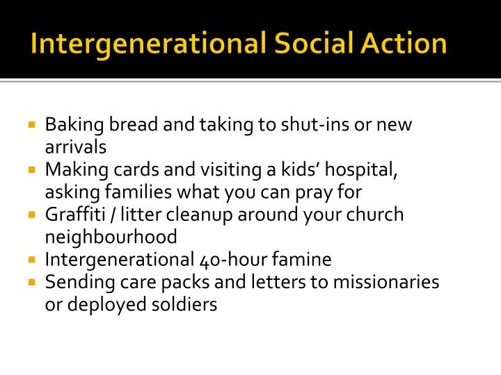 Intergenerational Social Action